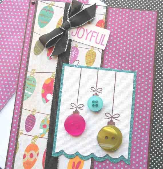 Button Christmas card.