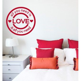 """VINYL WALL STICKER   """"Love is all you need.."""""""