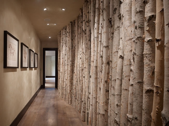 Love me some trees! I even brought some home from Nevada... I doubt I could do this in my hall however!