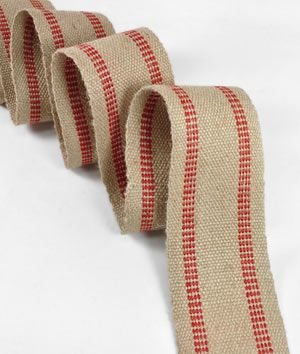 Red Jute Webbing .. I cant believe I found this. Random. I picked up a couple rolls of this in red and black at a garage sale last summer and have been using it for everything! i was scared I would run out! glad I found somewhere I can get more!! =)