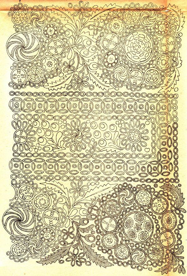 Trnava, nákres vyšívaných rukávců kroje. 1920 | Archiv časopisu Slavonie