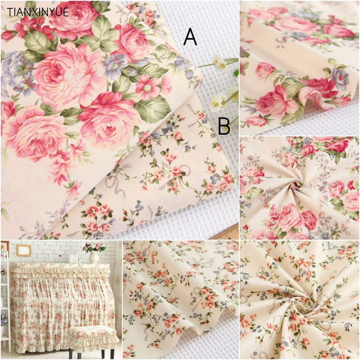 Choose size 100% cotton fabric twill Flower fabric DIY for Rural bedding cloth Sewing patchwork quilting fabrics-in Fabric from Home & Garden on Aliexpress.com | Alibaba Group