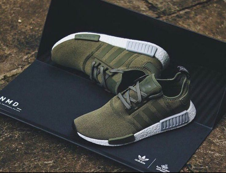 Olive green Adidas.