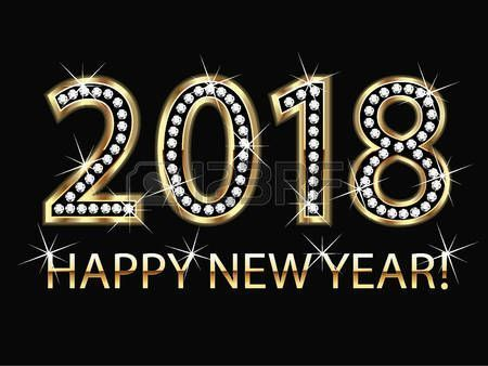 Happy New Year 2018 Quotes :   Image   Description  Happy New Year 2018 Quotes :   Image   Description  Happy new year 2018 gold background vector #new #year #2018 #party #gold #diamond #shiny #holidays #christmas #card #greetings