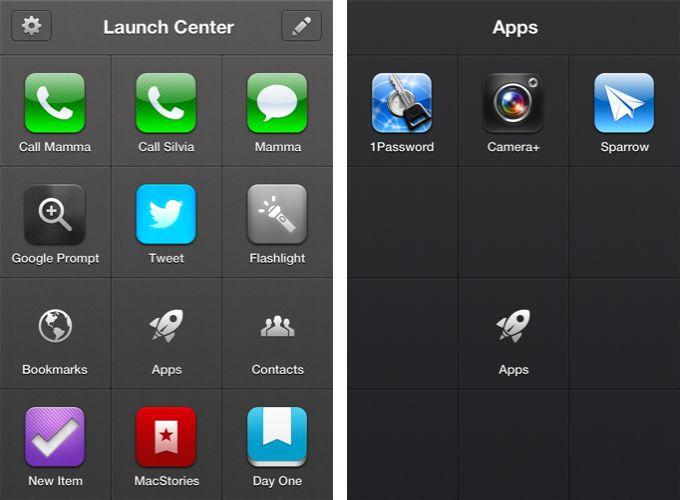 Launch Center Pro- handy dandy app!