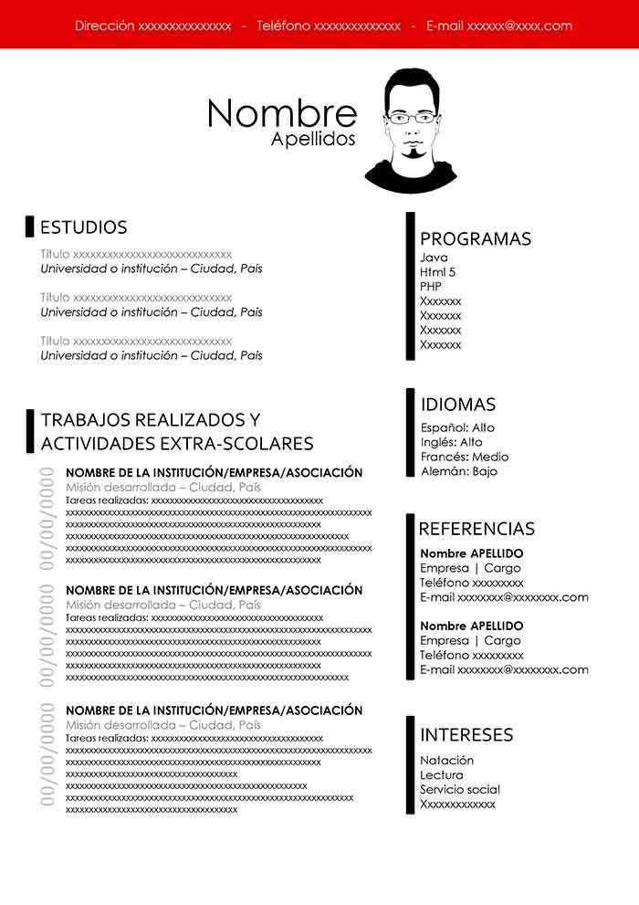 Modelo De Curriculum Sin Experiencia Plantillas Curriculum