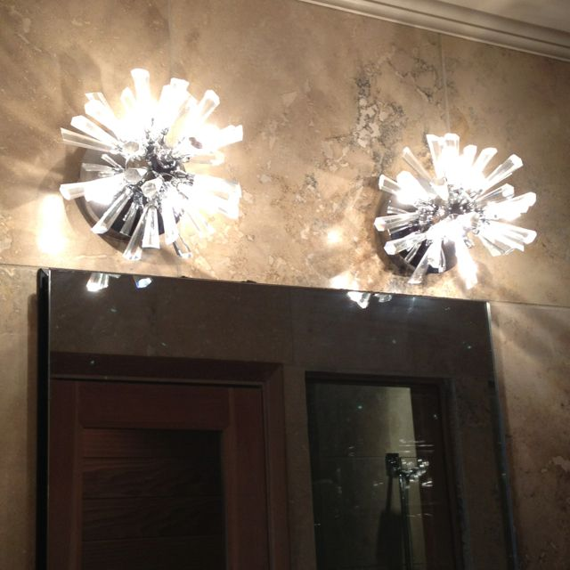 Modern Bathroom Light Fixtures Powder Room Pinterest Modern Bathrooms Modern And Decor