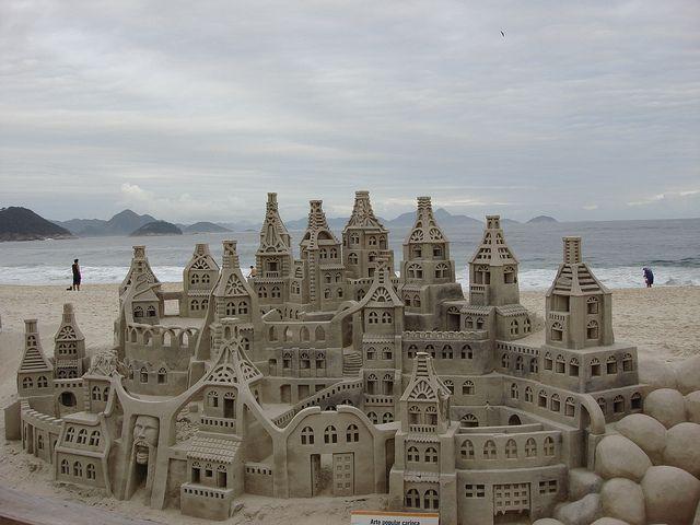 Sandcastle - Copacabana beach by Jorge Lascar, via Flickr: Copacabana Beaches, Art Sculpture, Beaches Holidays, Magic Sandcastl, Google Search, Beaches Sands, Sands Castles Sculpture, Luxury Beaches, Sands Sculpture