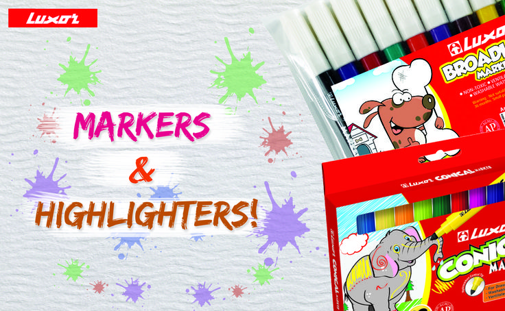 Markers and highlighters to cheer up study time! Buy them here >> http://bit.ly/1OvPMPe