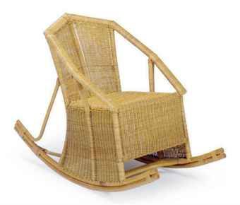 a french bamboo and wicker rocking chair - Wicker Rocking Chair
