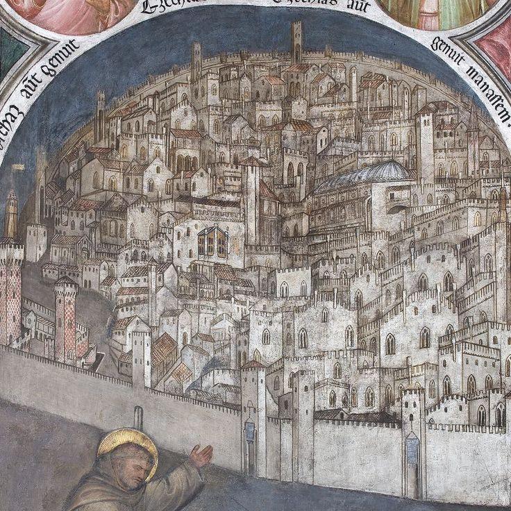 2: Giusto de' Menabuoi Affreschi della Cappella del Beato Luca Belludi (detail) 1382 Basilica di Sant'Antonio Padova #city #story #art #arthistory #trecento
