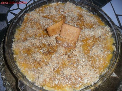 Tarta de manzana en el microondas con crumble de galletas | Cocinar en casa es facilisimo.com