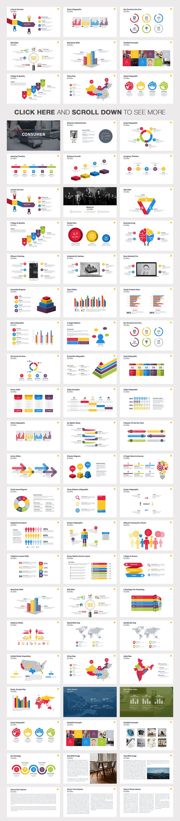 Consumer Powerpoint Template by Slidedizer on Creative Market