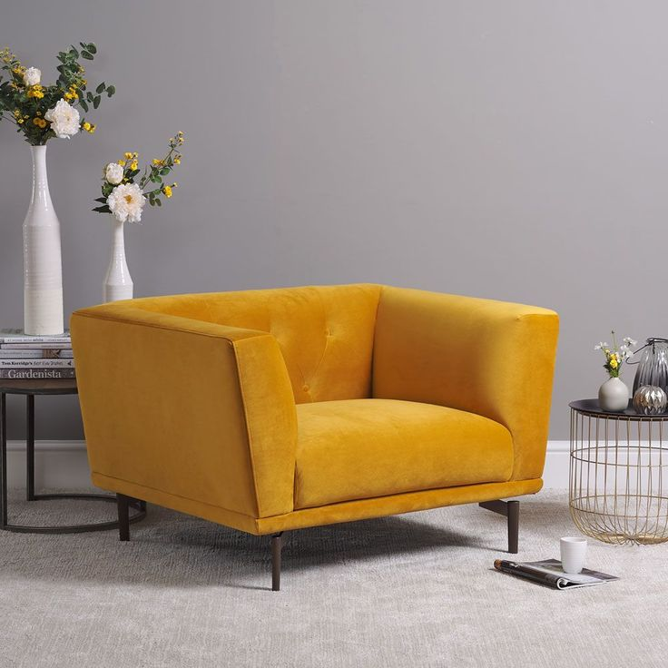 Baron armchair mustard in 2020 bedroom chairs uk