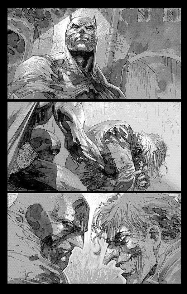 Jim Lee @JimLee Oct 25 Batman Europa sneak peek! #DCComics #graywash #joker @brianazzarello @MatteoCasali