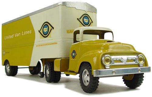 1957 Tonka Toys Private Label United Van Lines Semi Truck and Trailer: Toys Private, Toys Gam, Toys Cars, Collector Toys, Antique Toys, Storytelling Toys, Toys Tins, Tonka Toys, Antiques Toys