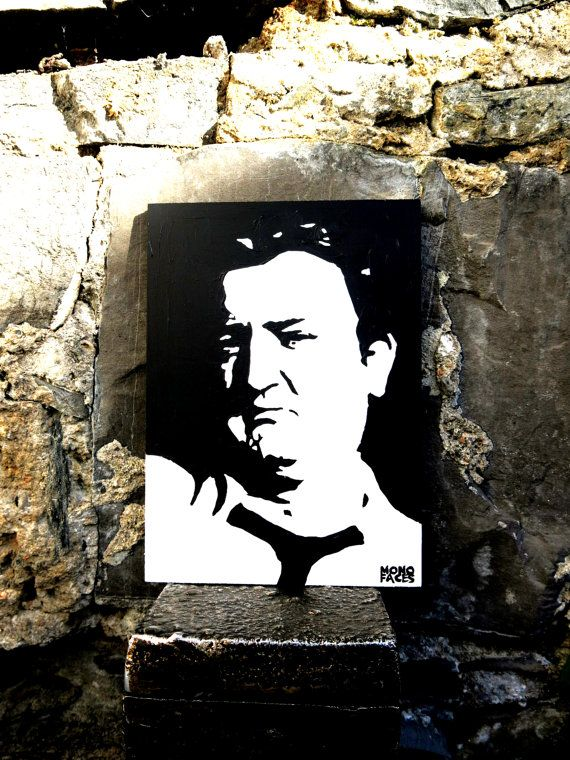 Hand painted acrylic piece of art of Brendan Behan. by MONOFACES, €14.00