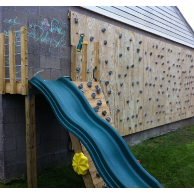 how to build an outdoor climbing wall for kids