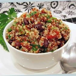 Zesty Quinoa Salad - sooooo good and easy.  I nixed the black beans and used 1 1/2 limes.  Letting it sit in the fridge made a big difference (was very salty at first… not at all after a few hours).  Also didn't have cilantro… but not sure I missed it!
