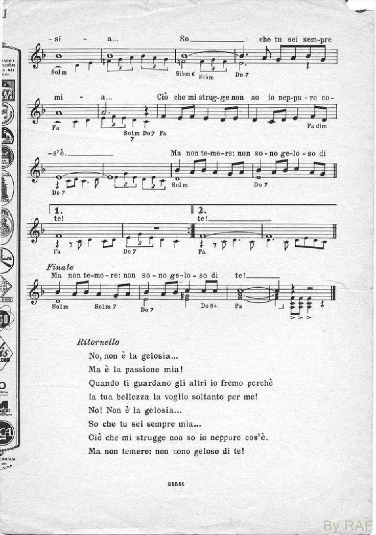 Raccolta spartiti musica leggera italiana anni 60 Musica