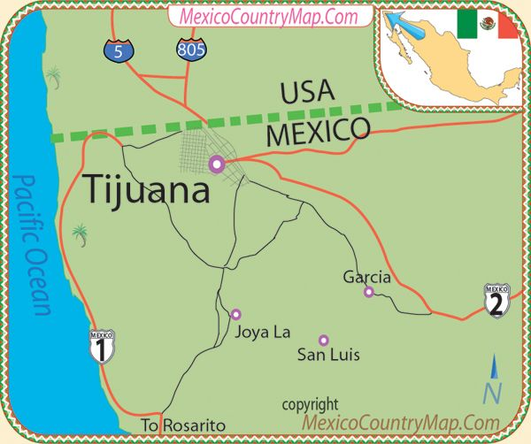 Tijuana Mexico Map Pin by Gladys on Johnson&johnson | Mexico country, Mexico, Living