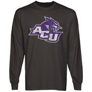 Abilene Christian University Wildcats Distressed Primary Long Sleeve T-Shirt - Charcoal