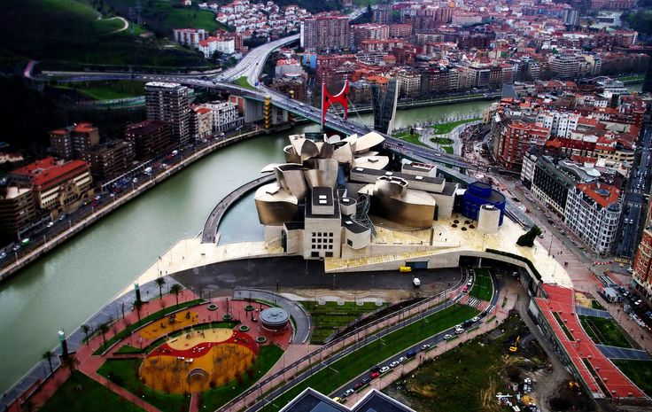 Bilbao,Basque Country, Spain.   The Guggenheim museum is amazing and this city is so cute!