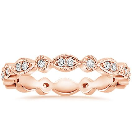 14K Rose Gold Tiara Eternity Diamond Ring from Brilliant Earth