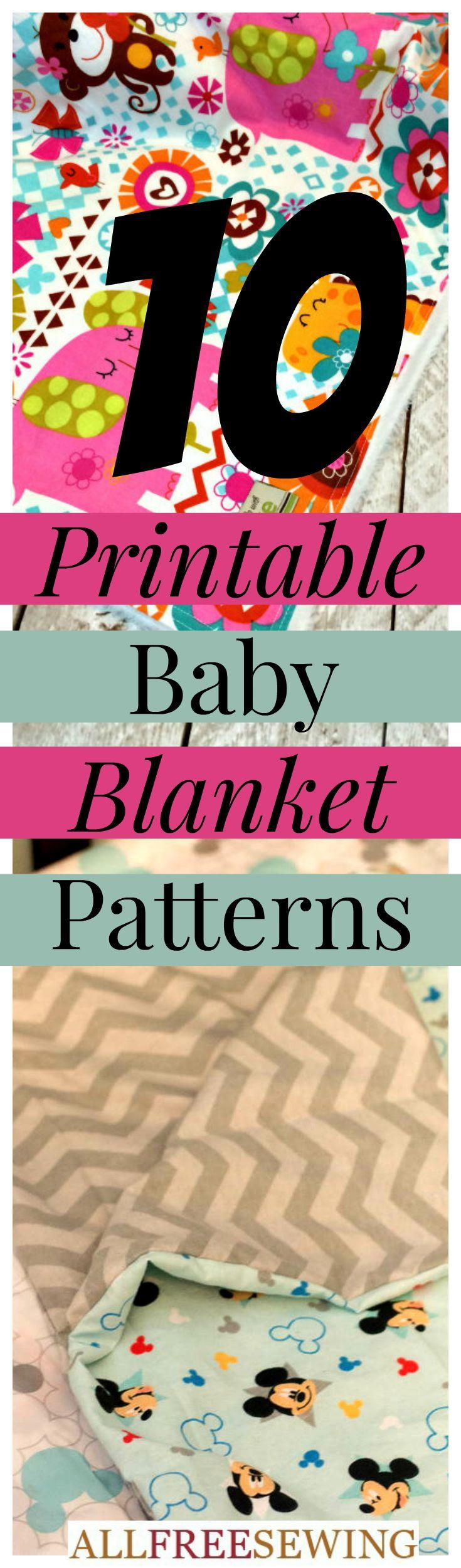 How to Make a Baby Blanket: 10 Baby Blanket Patterns for Sewing | AllFreeSewing.com