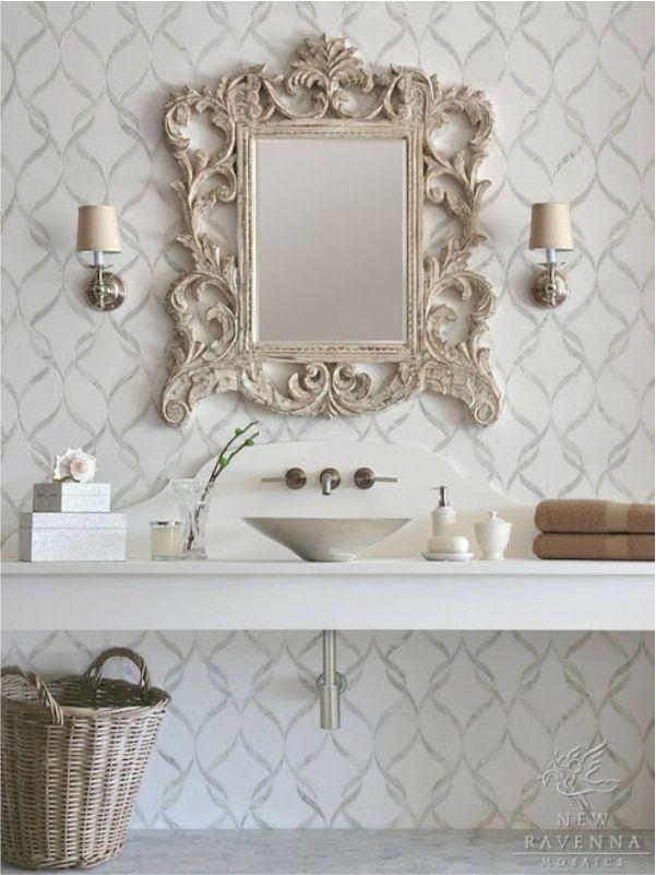 decoracao lavabo rustico:New Ravenna Backsplash