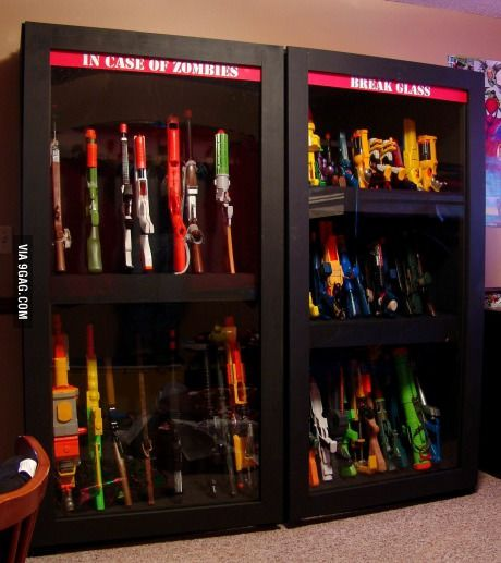 A closet for weapons. | Guns, Weapons and Toy