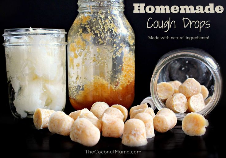 Homemade Cough Drops - Feeling sick? These natural homemade cough drops are my go-to when I'm fighting a cold. Made with natural ingredients like raw honey which is known to help suppress coughing and immune boosting coconut oil you can't go wrong with this natural alternative!