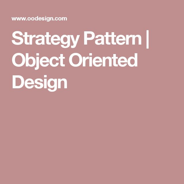 Strategy Pattern | Object Oriented Design