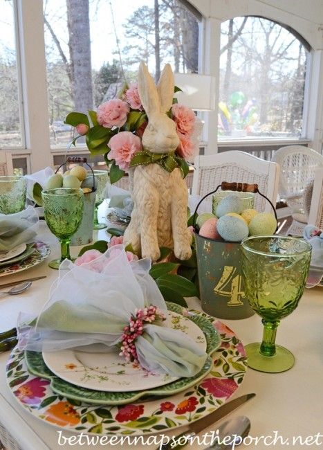 17 Best Images About Easter Spring Tablescapes On