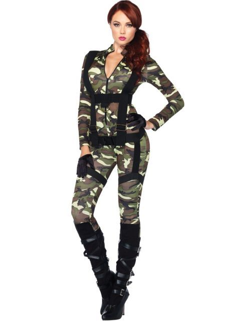 Adult Pretty Paratrooper Costume - Party City