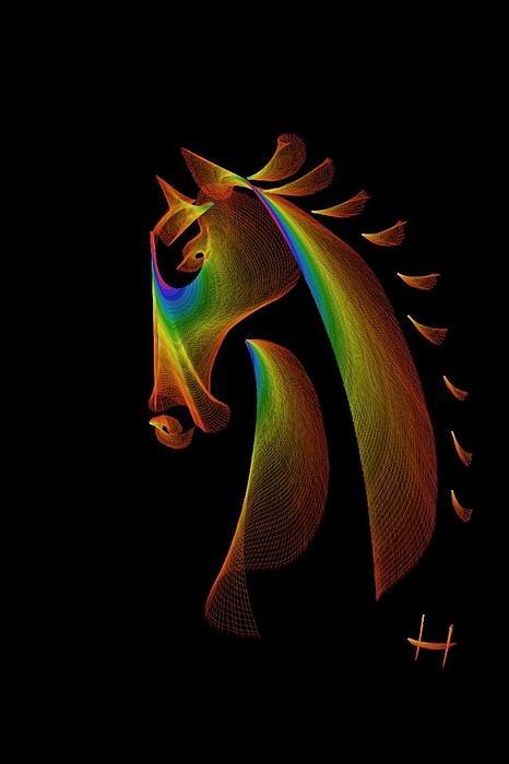 "One of my digital artworks called ""Trojan Horse 3"""