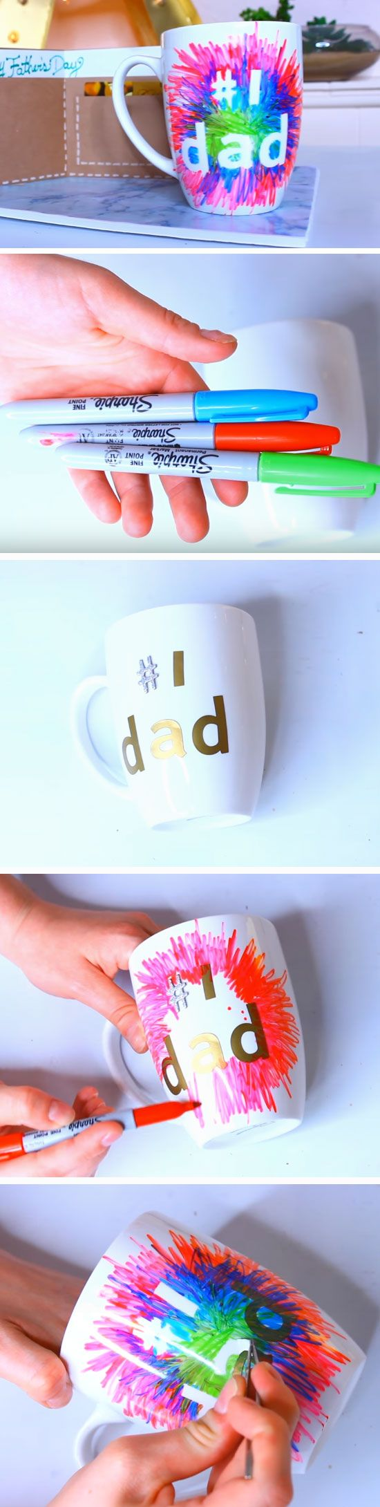 #1 Dad Mug | 25+ DIY Christmas Gifts for Dads & Grandfathers                                                                                                                                                                                 More
