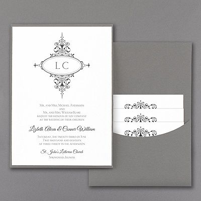 20 best Monogrammed Wedding Invitations images on Pinterest
