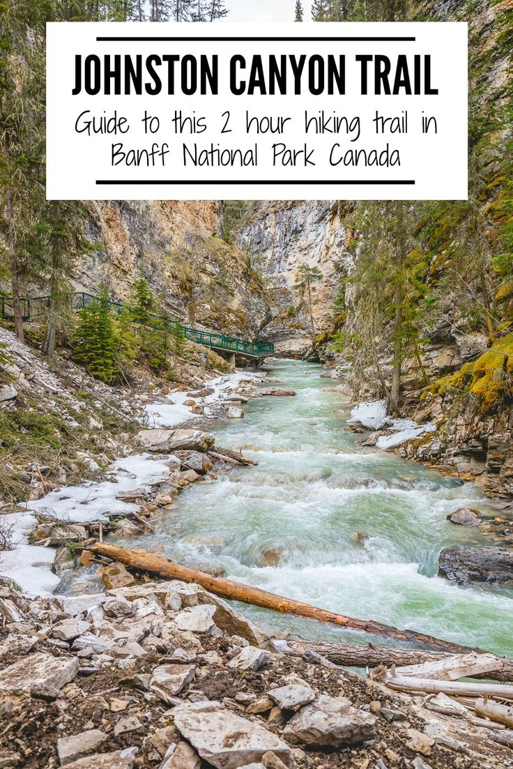 A trip to #Banff, #Canada is the ultimate nature's paradise. Don't miss a stop at #JohnstonCanyon for a casual #hike along the water's edge.   #adventuretravel, #Banffthingstodo, #Canadatravel