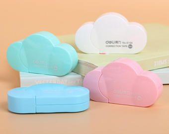 Cinta de corrección en la nube Linda corrección cintas / cintas de corrección Kawaii Linda papelería / Kawaii papelería / útiles escolares lindo