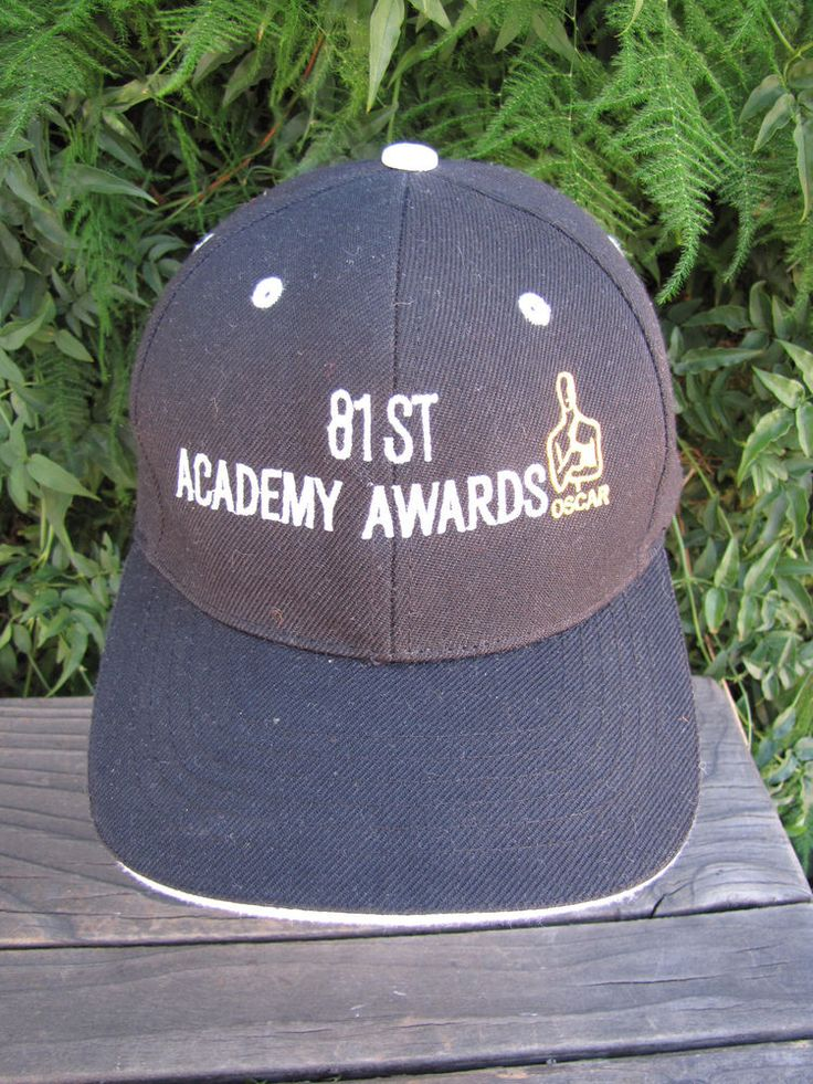 Academy Awards Hat Black Embroidered 81st Oscar Logo Gold RARE Hollywood