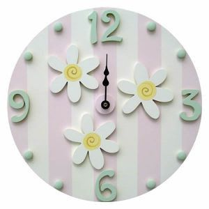 White Daisy Wall Clock | Jack and Jill Boutique