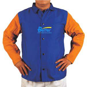 Split Cow Leather Welding Clothing Leather Welding Aprons Flame Retardant Cotton Leather Welding Jackets