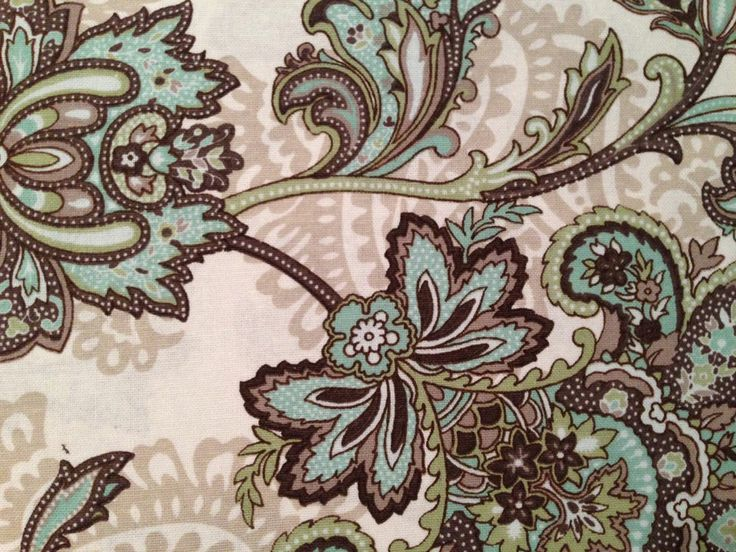 Best Paisley Pattern Prints Images On Pinterest Paisley - Blue and brown shower curtain fabric