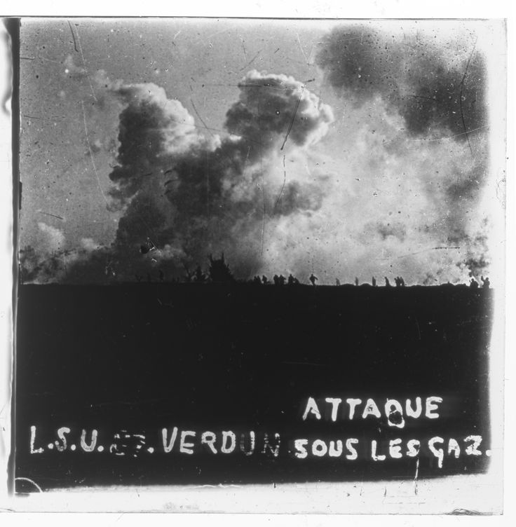 «Attaque sous les gaz», Verdun, 1916.