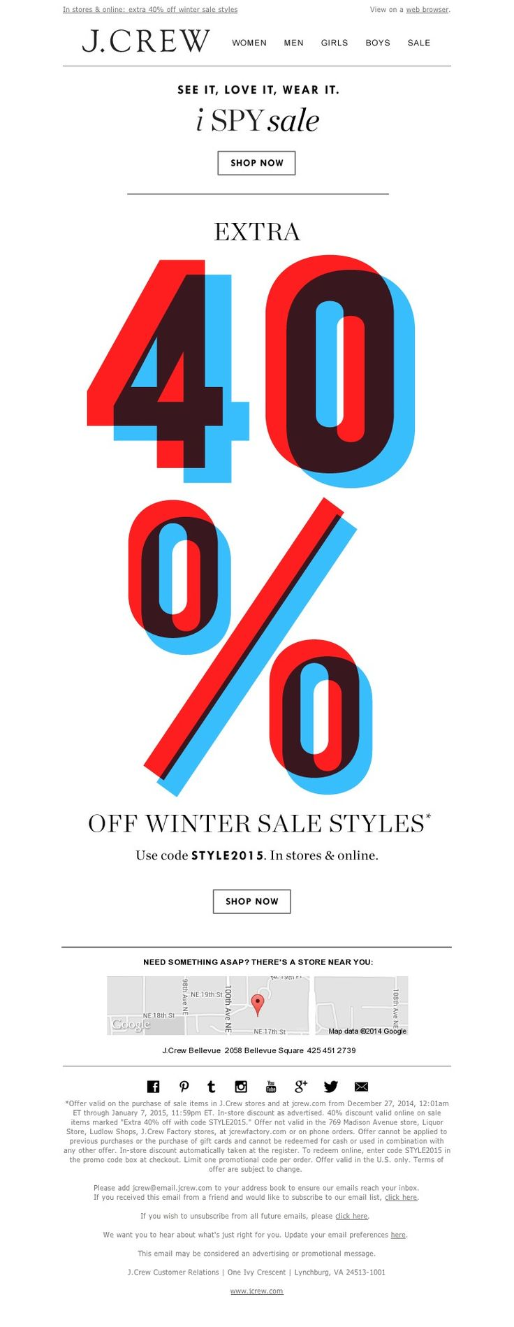 J.Crew - There's plenty to see in our sale (like an extra 40% off)