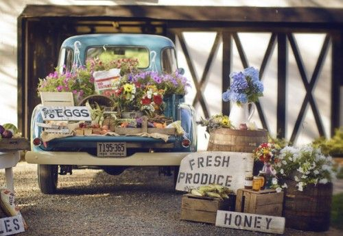 eat local. eat organic. : Trucks, Idea, Farmers Market, Wedding, Farmers' Market, Flower, Country