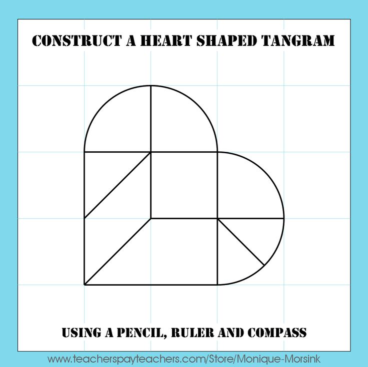 Colorful Tangrams: Valentine's Day - Heart Tangram Patterns