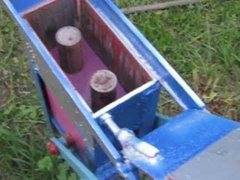 Станок по производству кирпича в домашних условиях..{mini brick plant) - YouTube