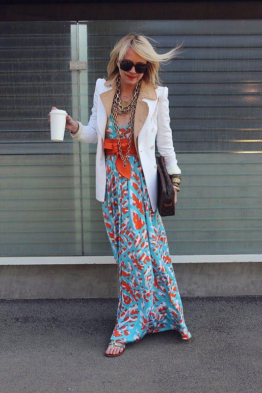 styled maxi-dvf: Long Dresses, Atlantic Pacific, Floral Maxi, Maxi Dresses, Blair Eadi, Color Combos, Fashion Bloggers, The Dresses, San Francisco